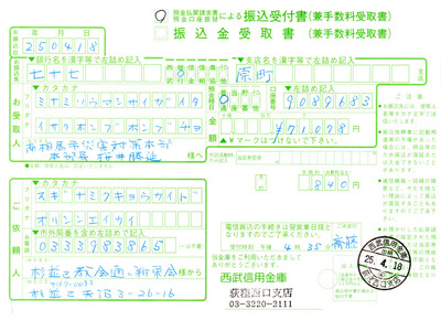 第7回の東日本大震災義捐金